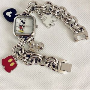 Mickey Mouse Charm Bracelet Watch